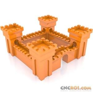 3dprinter-cubify-mcwb2 3D Medieval Castle Walls