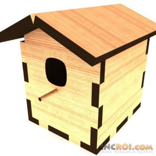 cnc-laser-bird-house Bird House