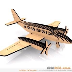 cnc-laser-navajo-plane Piper Navajo
