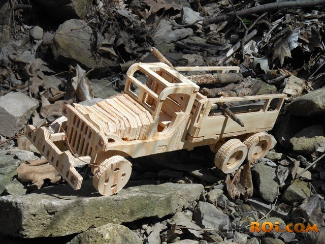joninsidemake2 Army Transport Truck Model Kit: Design through Manufacturing