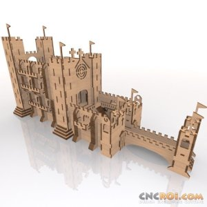medieval-castle-laser-cut-kit-1 Medieval Castle