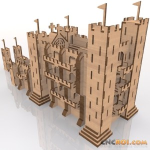 medieval-castle-laser-cut-kit-2 Medieval Castle