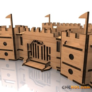 medieval-castle-walls-cnc-laser-kit-3 Medieval Castle Walls B