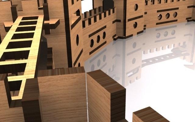 medieval-castle-walls-cnc-laser-kit-4 Medieval Castles and Siege Weapons