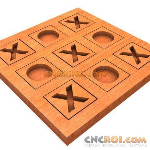 tictactoe-inlayed Tic Tac Toe - Inlayed