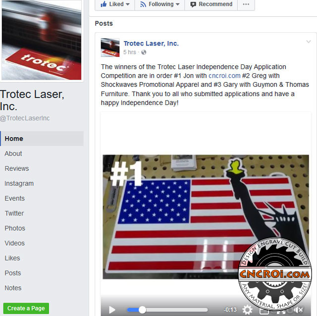 1-trotec CNCROi.com wins Trotec Laser's 4th of July Design Contest!