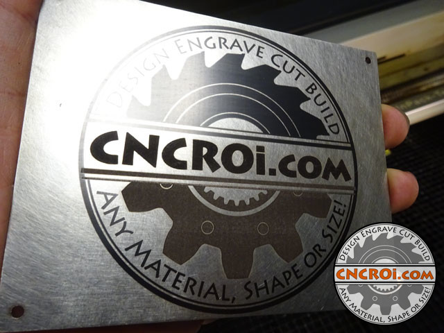 """Fiber Annealing VS Etching Stainless Steel: 11Ga (1/8"""" or 3 mm) 316 #4 Finish Plate"""