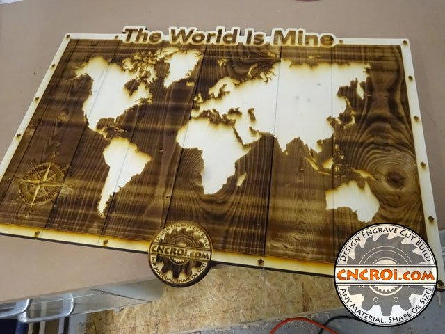 "pyrography-world-mine-1 Pyrography: Wooden Pallet to Wall Art ""The World Is Mine"""