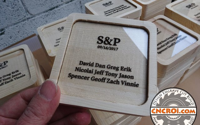wedding-coaster-xxx9 Custom Wedding Coasters: Pine with Branded Polycarbonate Inlay