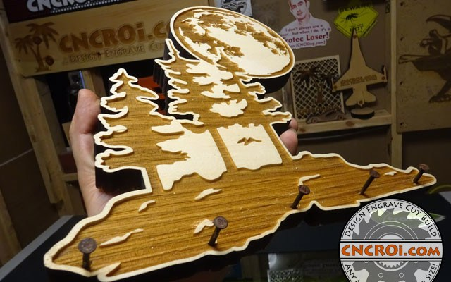 wood-key-holder-xx Custom Wood Key Holder: Wall Art to Laser Engraved & Cut Pine