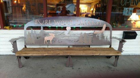 Extra large custom bench