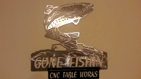 Gone fishing silver fish natural