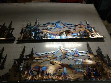 mountain scene moose torched