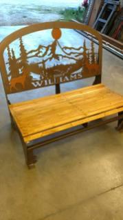 williams steel wildlife bench 3