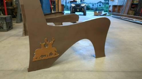 williams steel wildlife bench details 2