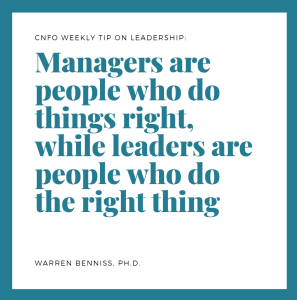 Weekly Leadership Tip