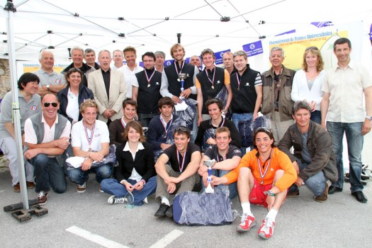 Podium du Championnat de France Universitaire de Match-Racing