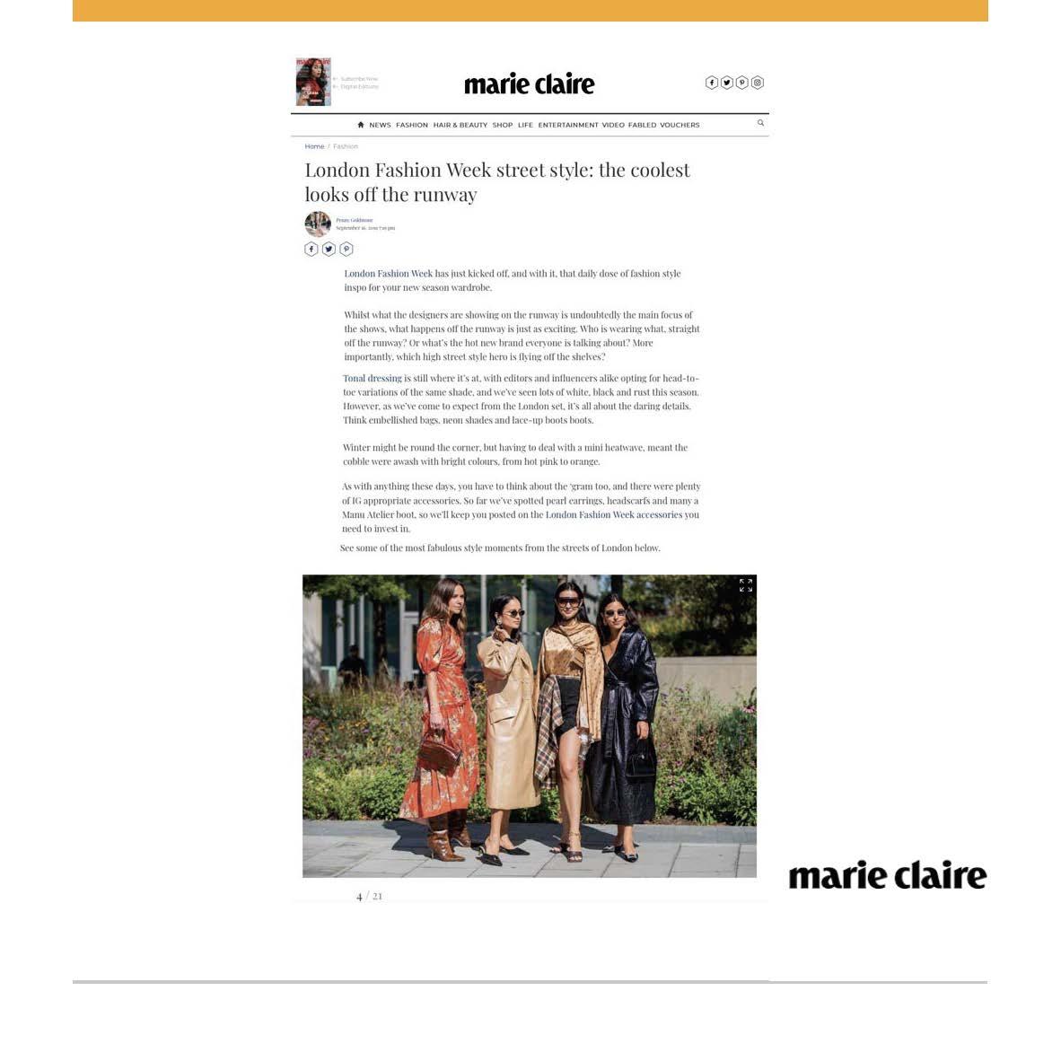C.NICOL BAGS MARIE CLAIRE UK MAGAZINE