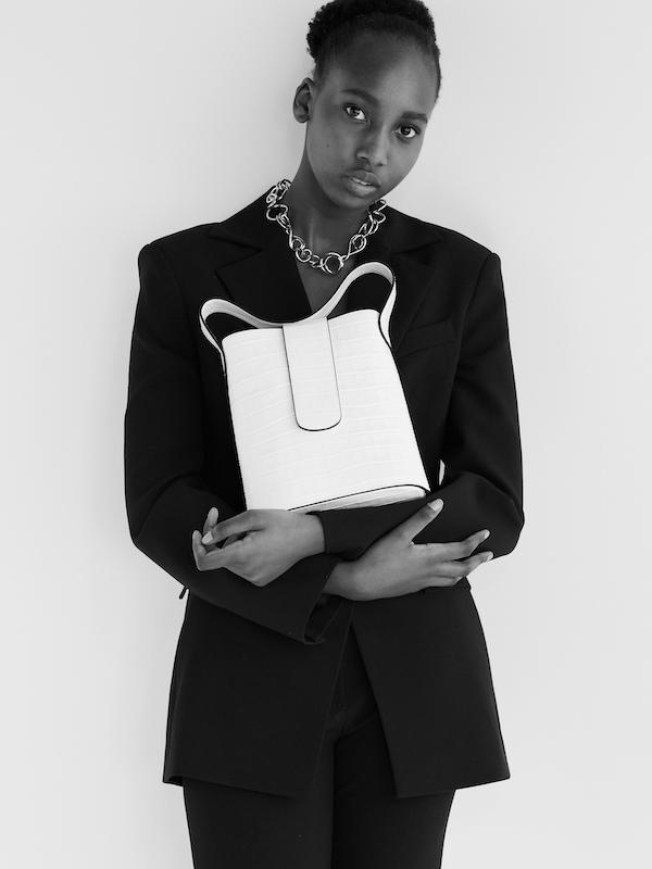 C.Nicol Holly mini bag white leather