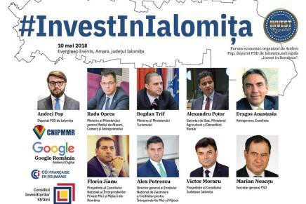 """#Investinialomita, cea de-a VII-a editie a evenimentului """"Inves in Romania"""""""