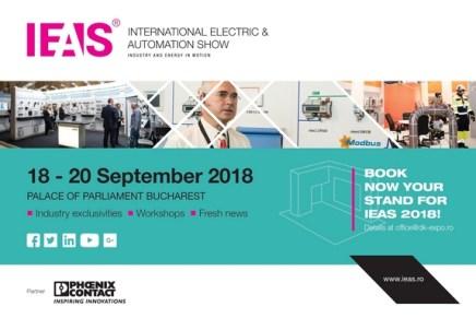Cea de a XIV-a ediție a Expoziției Internaționale de Echipamente Electrice și Automatizări, International Electric&Automation Show – IEAS
