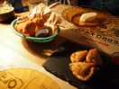 Delicious fried wontons and croquetas