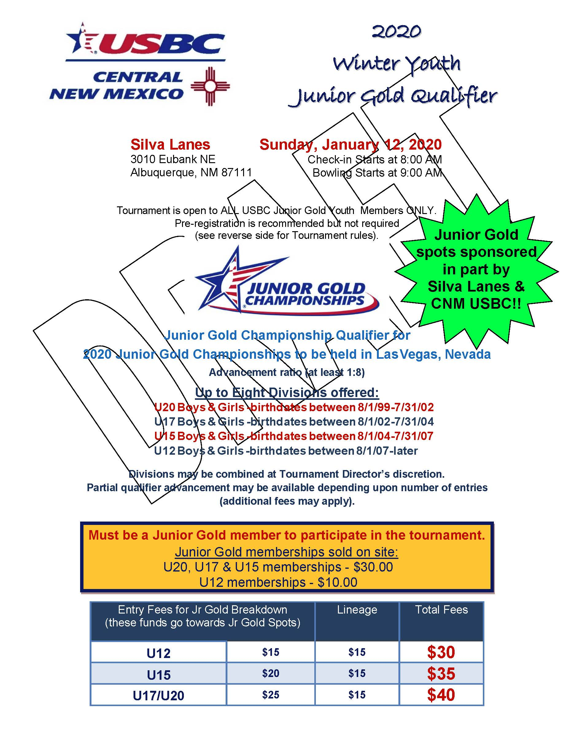 Winter Youth Junior Gold Qualifier Cnm Usbc
