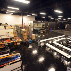 The CNM Film Technician studio, offering a full sound stage, lighting and camera equipment, class room space, and all tools necessary to produce a motion picture.
