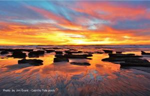 Sunset at the Cabrillo Tidepools