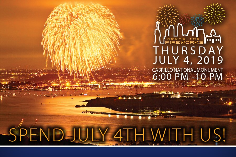 Above the Fireworks - Cabrillo National Monument Foundation
