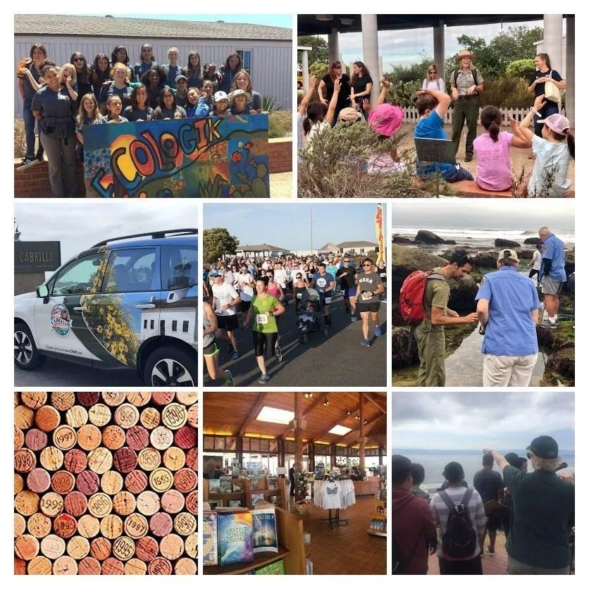 program collage, Cabrillo National Monument Foundation
