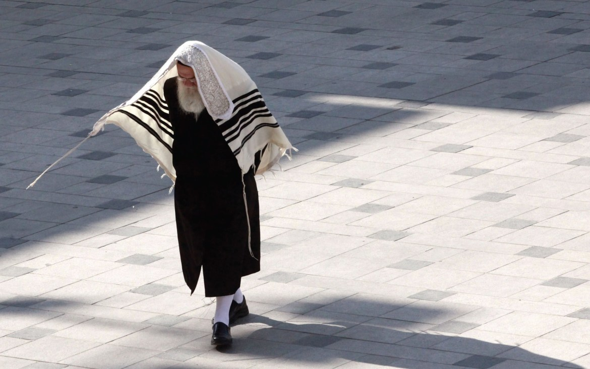 A haredi man in Jerusalem. (credit: Marc Israel Sellem)