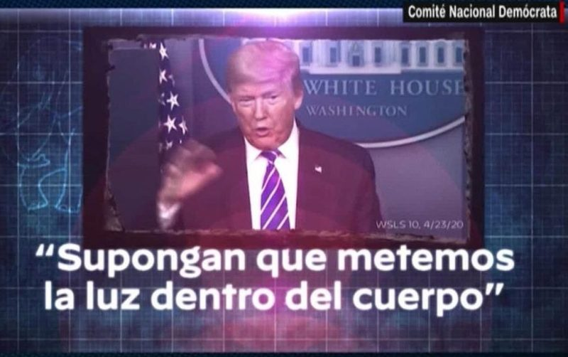 Democratic Party criticizes Trump in Spanish for covid-19