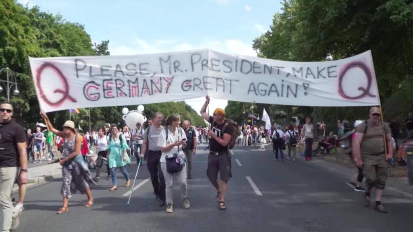 Qanon, the conspiracy theory spreads in Germany