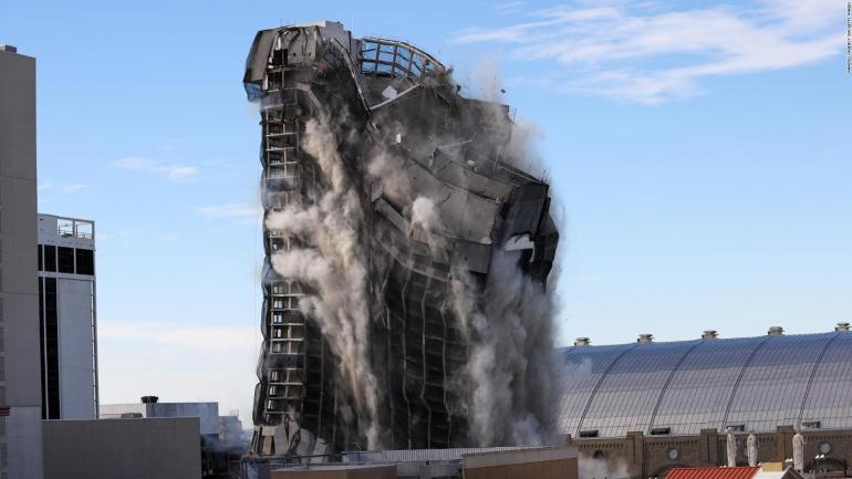 This was the demolition of the Trump Plaza Hotel casino