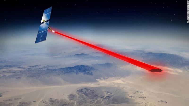 Científicos Pentágono panel solar espacio