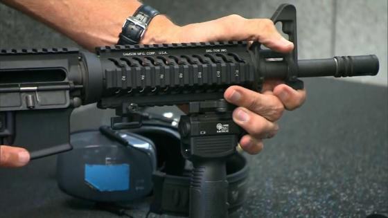 This is what the gun used in the Colorado massacre sounds like