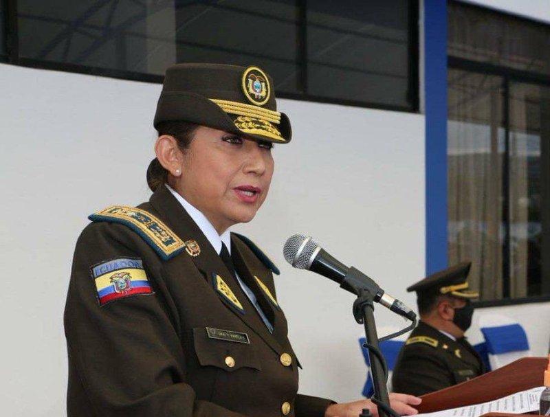 Por primera vez en Ecuador una mujer es comandante general de la Policía