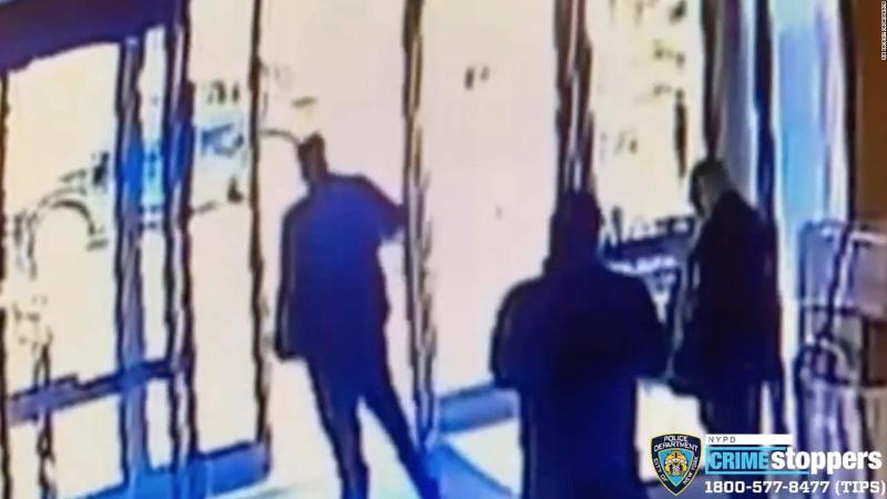 Security video shows attack on Asian woman