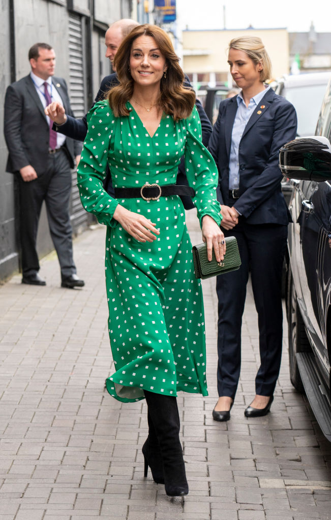 GALWAY, IRELAND - MARCH 05: Prince William, Duke of Cambridge and Catherine, Duchess of Cambridge arrive to visit a family-owned, traditional Irish pub in Galway city centre during day three of their visit to Ireland on March 5, 2020 in Galway, Ireland. (Photo by Arthur Edwards - WPA Pool/Getty Images)
