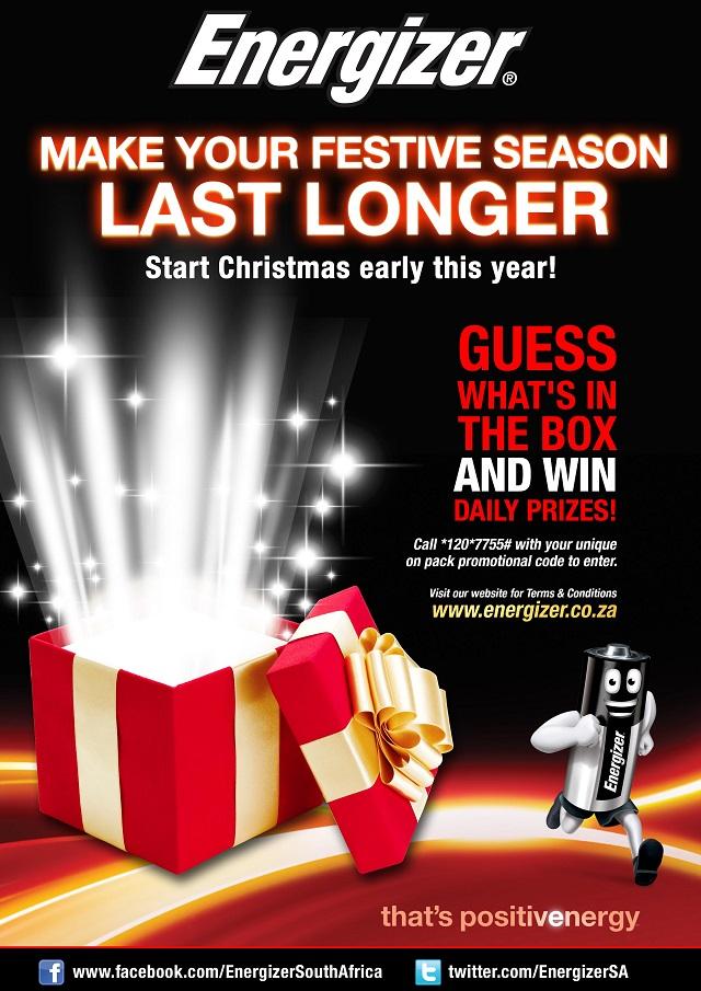 Energizer festive season promotion