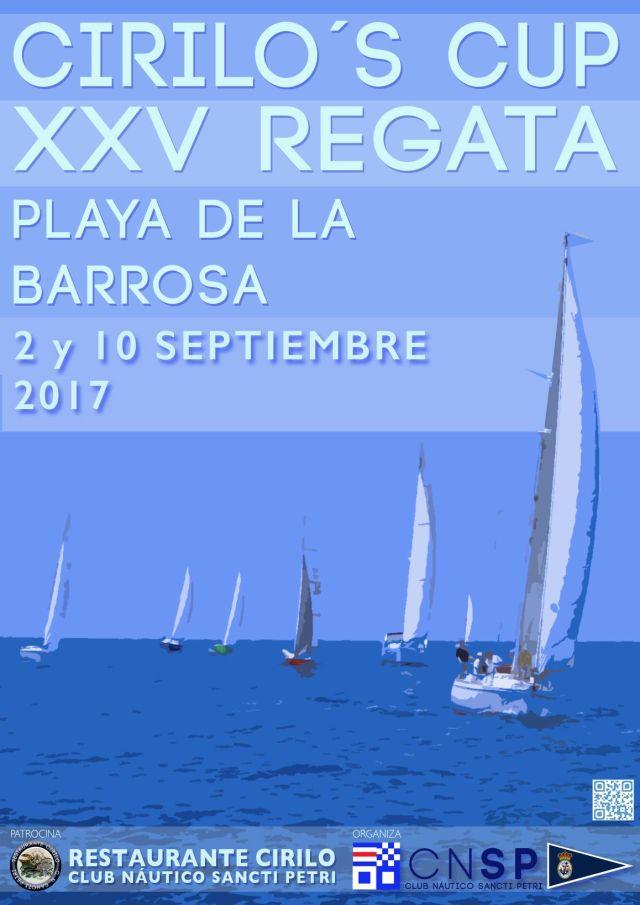Cartel de la regata Cirilo's Cup 2017