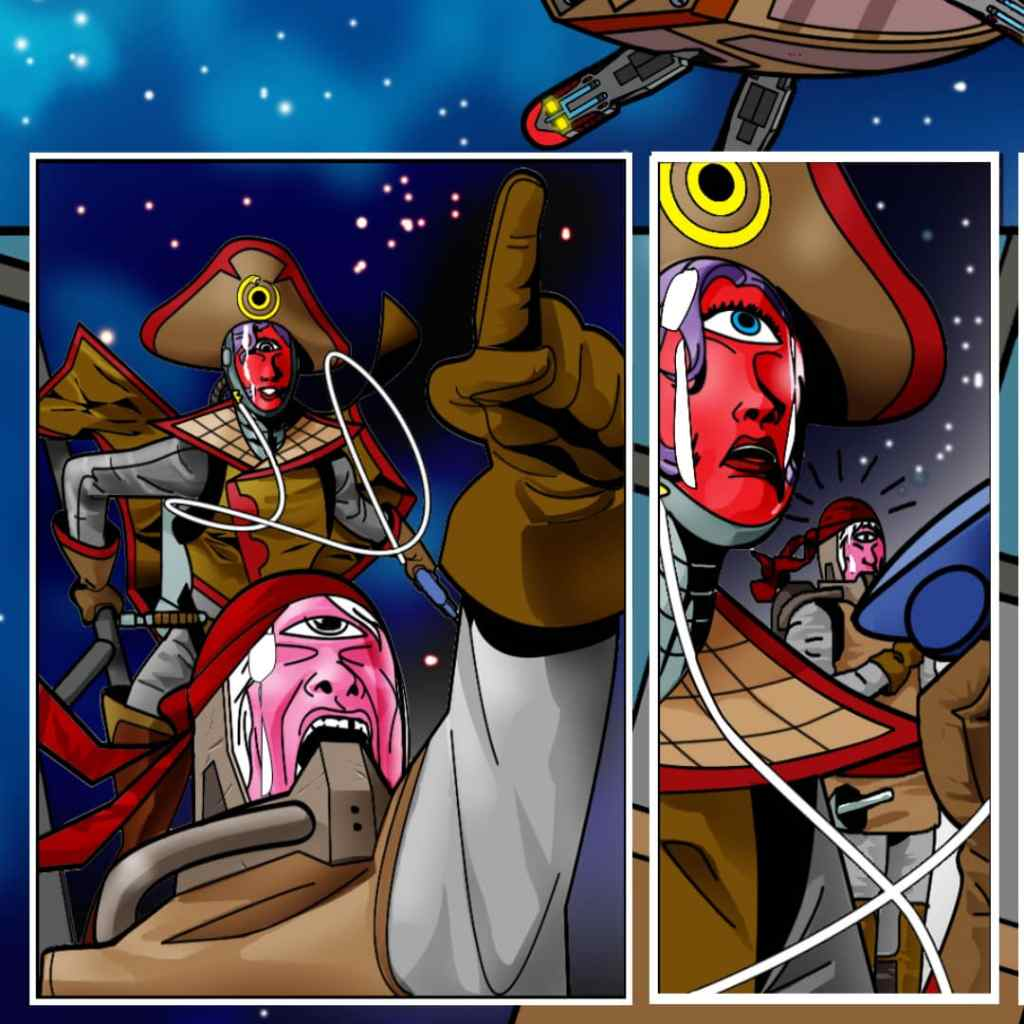 Captain Bala commanding her crew. Image take from TOS Issue #3.