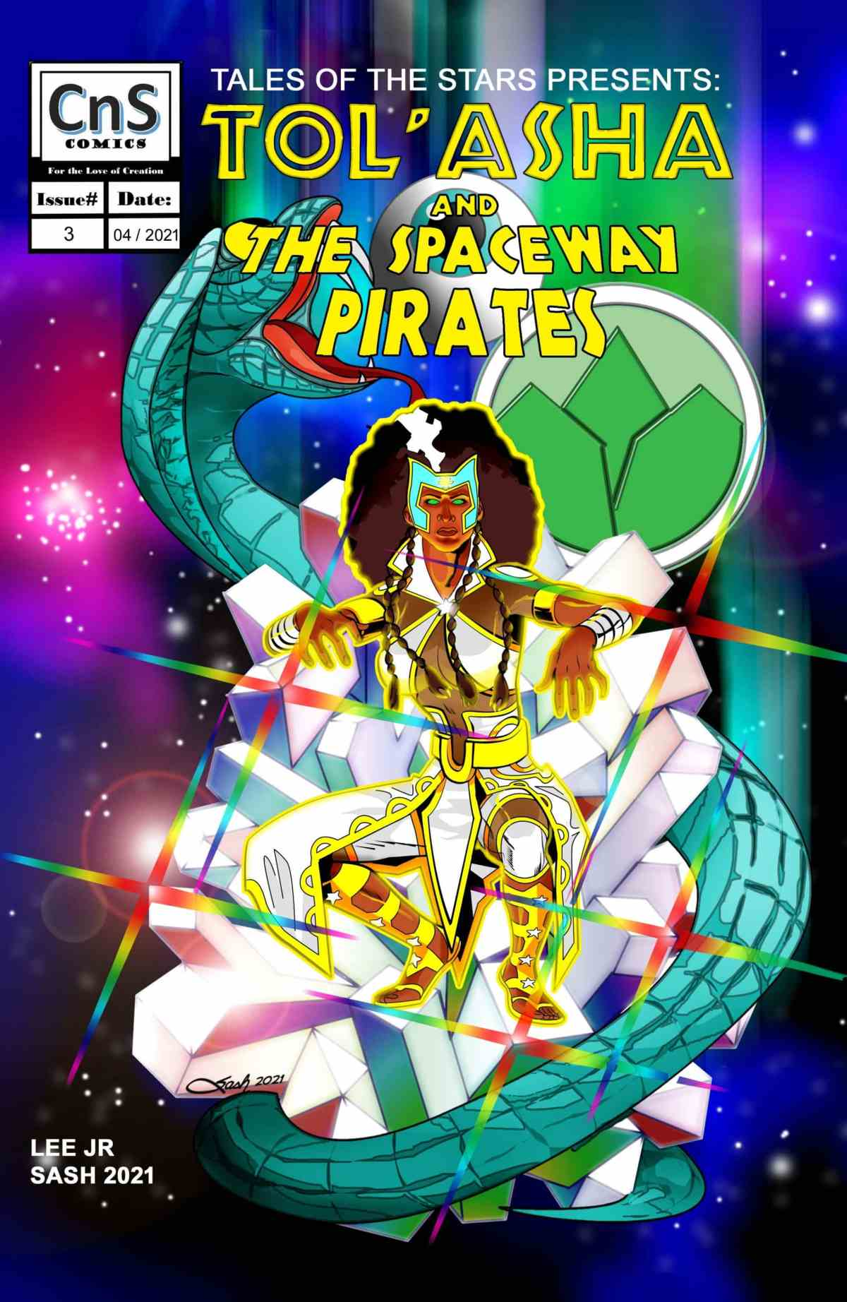 TOS Issue #3 Classic Cover. Art by Steven Sash Scott. Issue #3 will be released with our Kickstarter on April 23rd 2021.