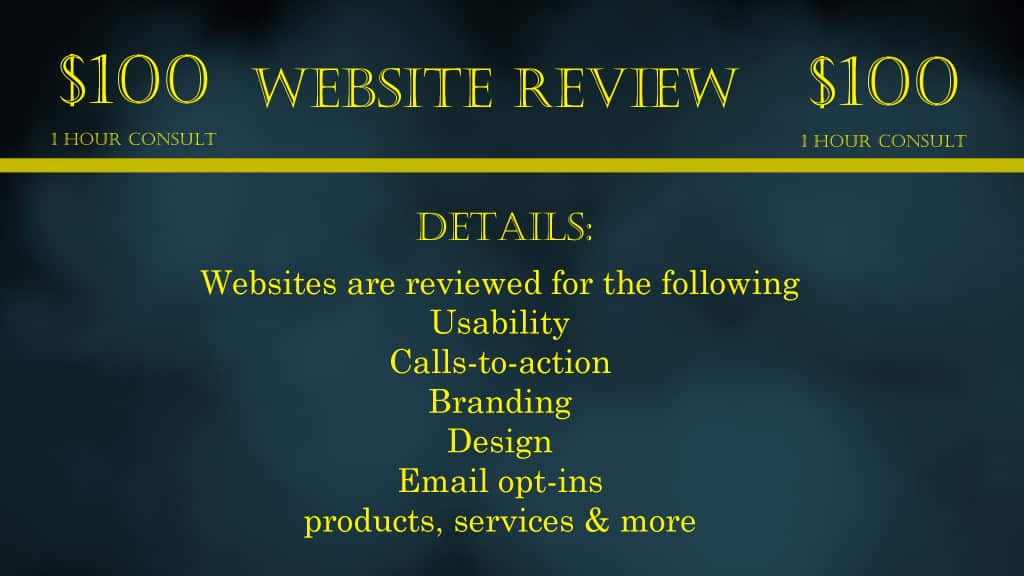 Website review service.