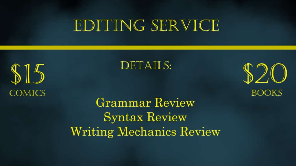Editing services banner