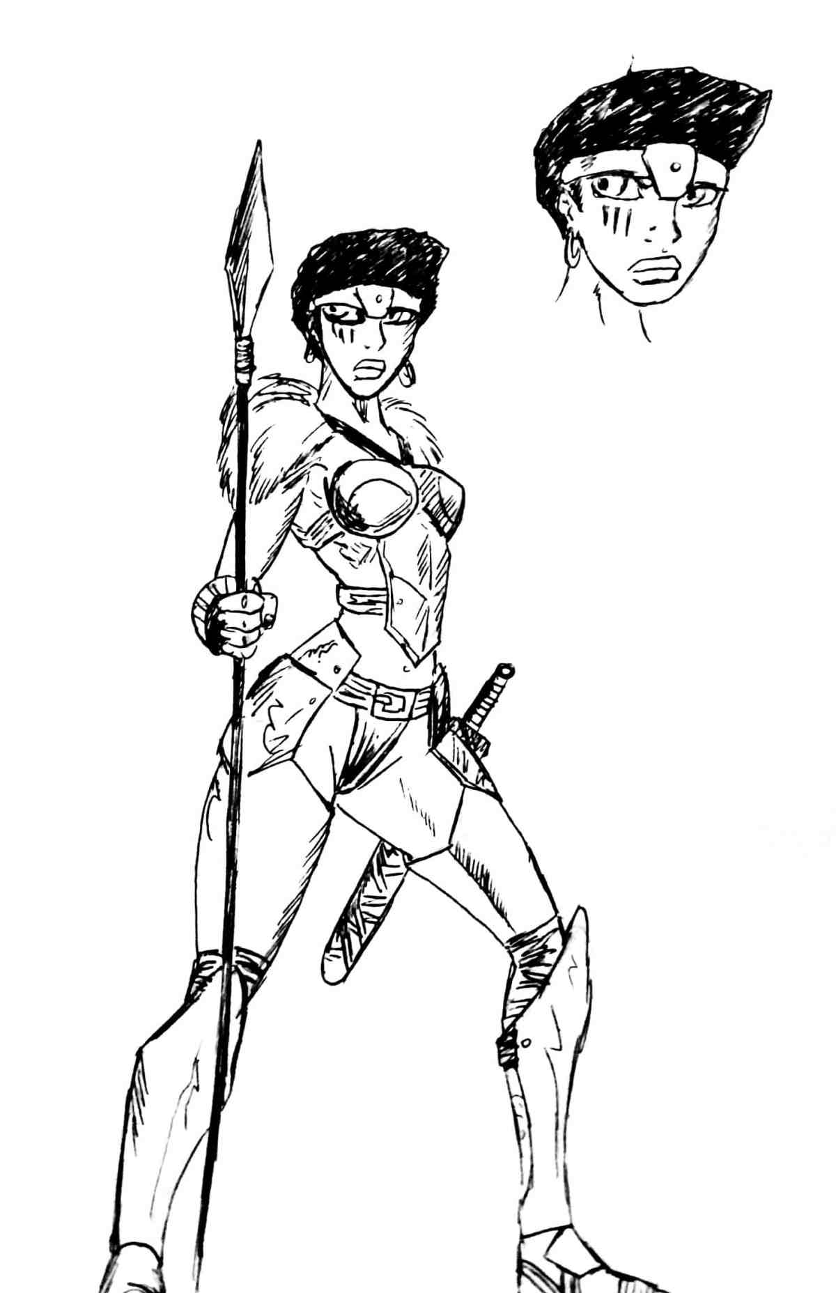 The mighty warrior and leader, Nubia