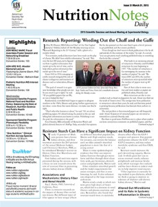 Nutrition Notes, the official print show daily of the ASN Annual Meeting.