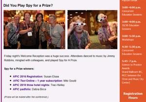 spy for prize winners