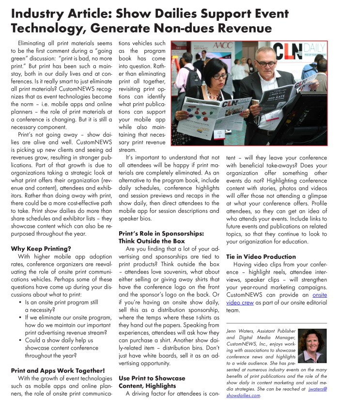Our feature in the PCMA New England Chapter's newsletter.